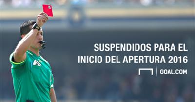 Suspendidos Apertura 2016