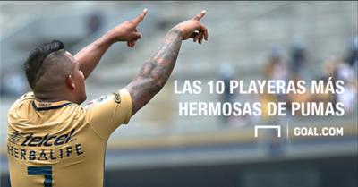 Top 10 playeras de Pumas
