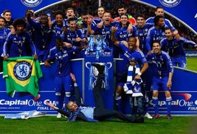 Festejos del Chelsea 01032015
