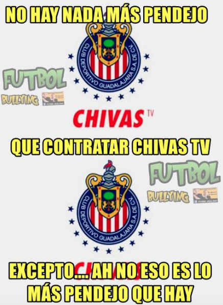 Memes Chivas y América