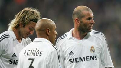 David Beckham Roberto Carlos Zinédine Zidane Real Madrid Primera División