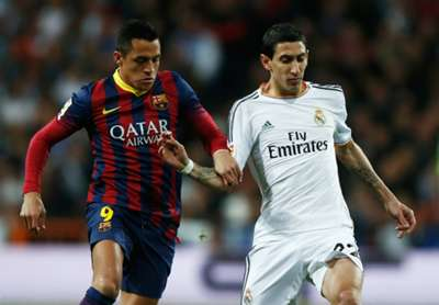 Alexis Sanchez Angel Di Maria Barcelona Real Madrid 04162014 Copa Del Rey
