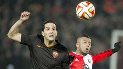 Kostas Manolas Tonny Vilhena Feyenoord AS Roma Europa League 02262015
