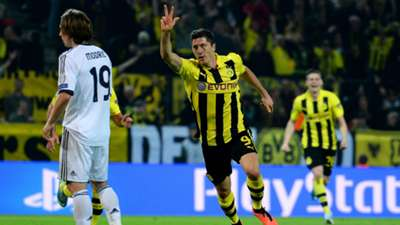 Robert Lewandowski Borussia Dortmund - Real Madrid 04242013 Champions League