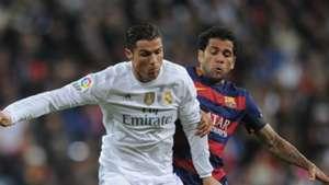 Cristiano Ronaldo Dani Alves Real Madrid Barcelona Primera Division 11212015