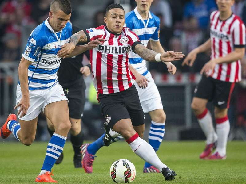 Psv 3 1 Pec Zwolle Dutch Leaders On Brink Of Title Goal Com
