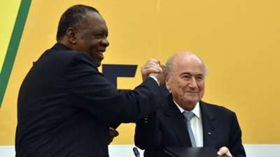Sepp Blater and Issa Hayatou