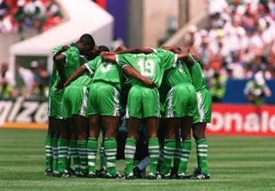 Nigeria squad at USA 94