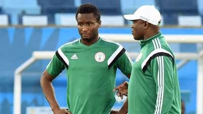 John Obi Mikel and Stephen Keshi Nigeria