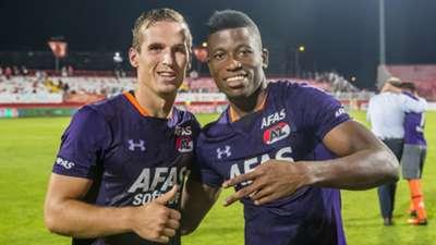Fred Friday and Stijn Wuytens of AZ Alkmaar