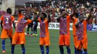 Sunshine Stars celebrate goal against Lobi Stars