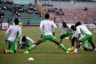 Nigeria Super Eagles warm up 140906