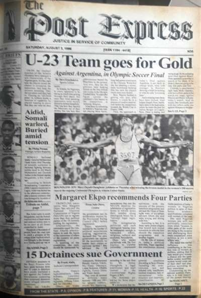 Nigeria newspapers - Atlanta 96