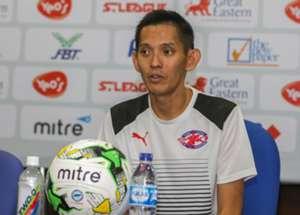 Home United coach Philippe Aw 2016 S.League