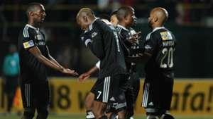 Orlando Pirates celebrate Oupa Manyisa's goal