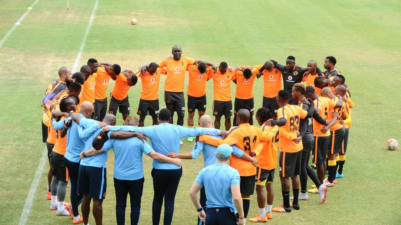 Kaizer Chiefs squad in training