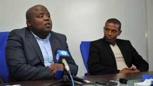 Chippa Mpengesi and Shooz Mekutu of Chippa United