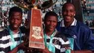 Andries Sebola, John Moeti and Dumisa Ngobe - Orlando Pirates