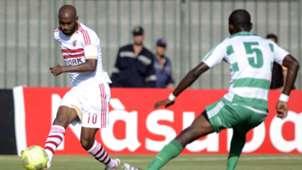 Shikabala of Zamalek and AC Leopards' Boris Moubhibo Ngonga