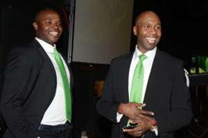 Aaron Mokoena and Lucas Radebe