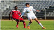 Karl Hall (Seychelles) & Ananias Gebhardt (Namibia) Cosafa Cup 2015