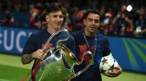 Lionel Messi na Xavi Hernandez