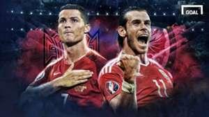 GFX Ronaldo vs Bale - Ureno vs Wales