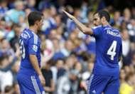 Eden Hazard Cesc Fabregas Chelsea