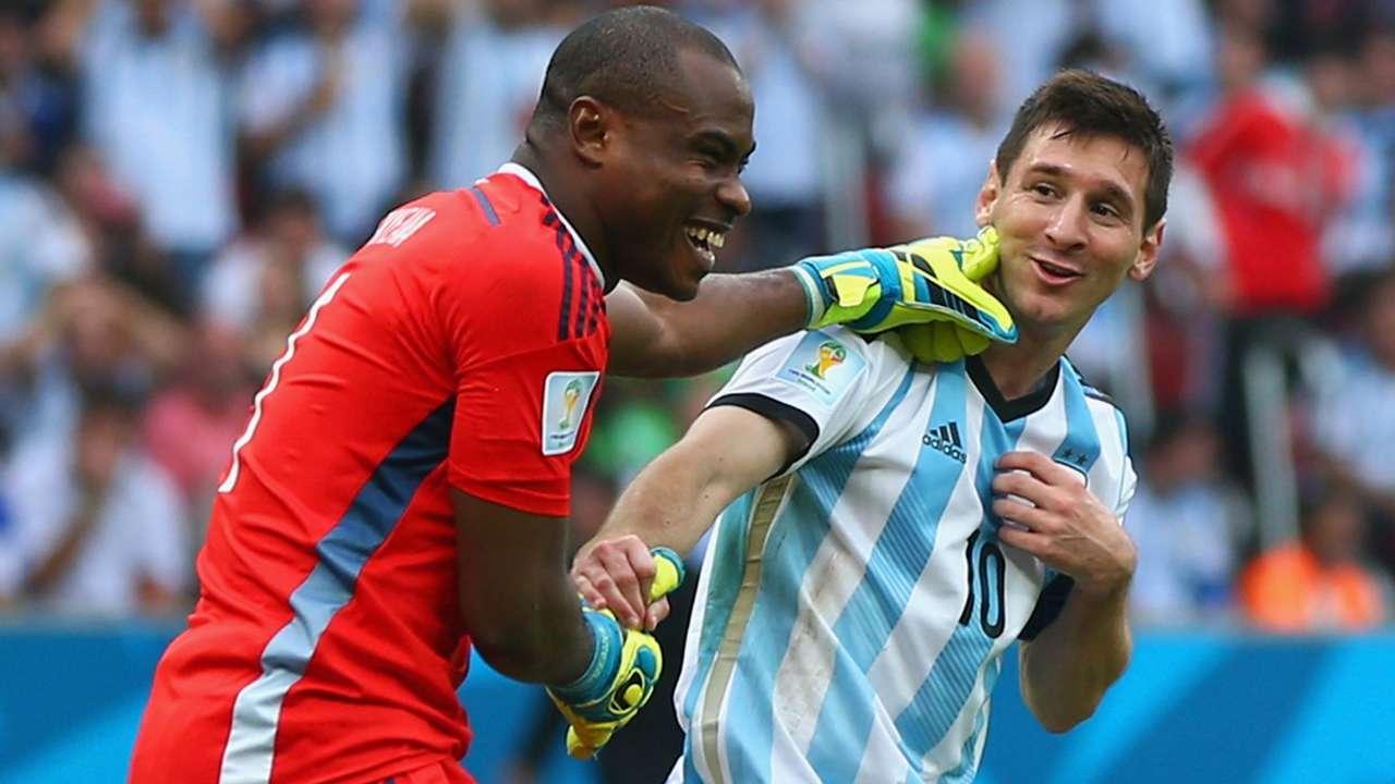 Vincent Enyeama Lionel Messi Nigeria Argentina