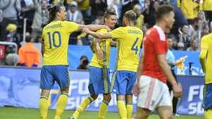 Sweden Wales Graqvist Zlatan Ibrahimovic Mikael Lustig 06052016