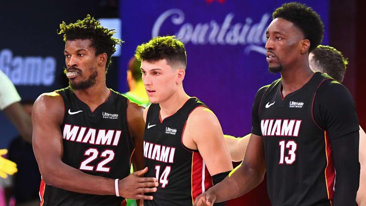Butler, Herro, and Adebayo