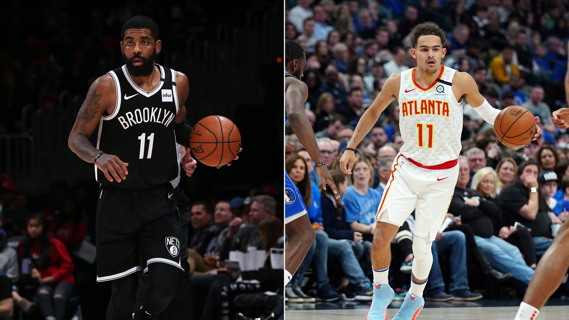 Kyrie Irving and Trae Young leave respective games with ...