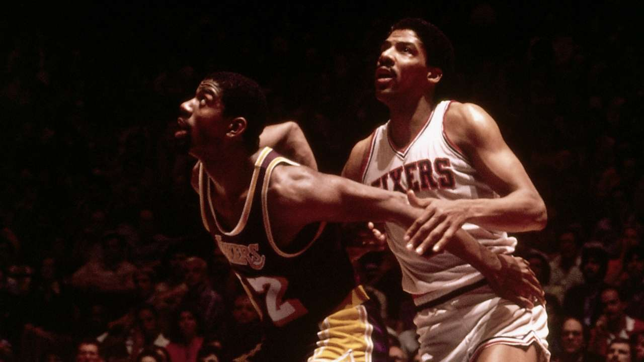 Magic Johnson vs. Philadelphia 76ers in the 1980 NBA Finals