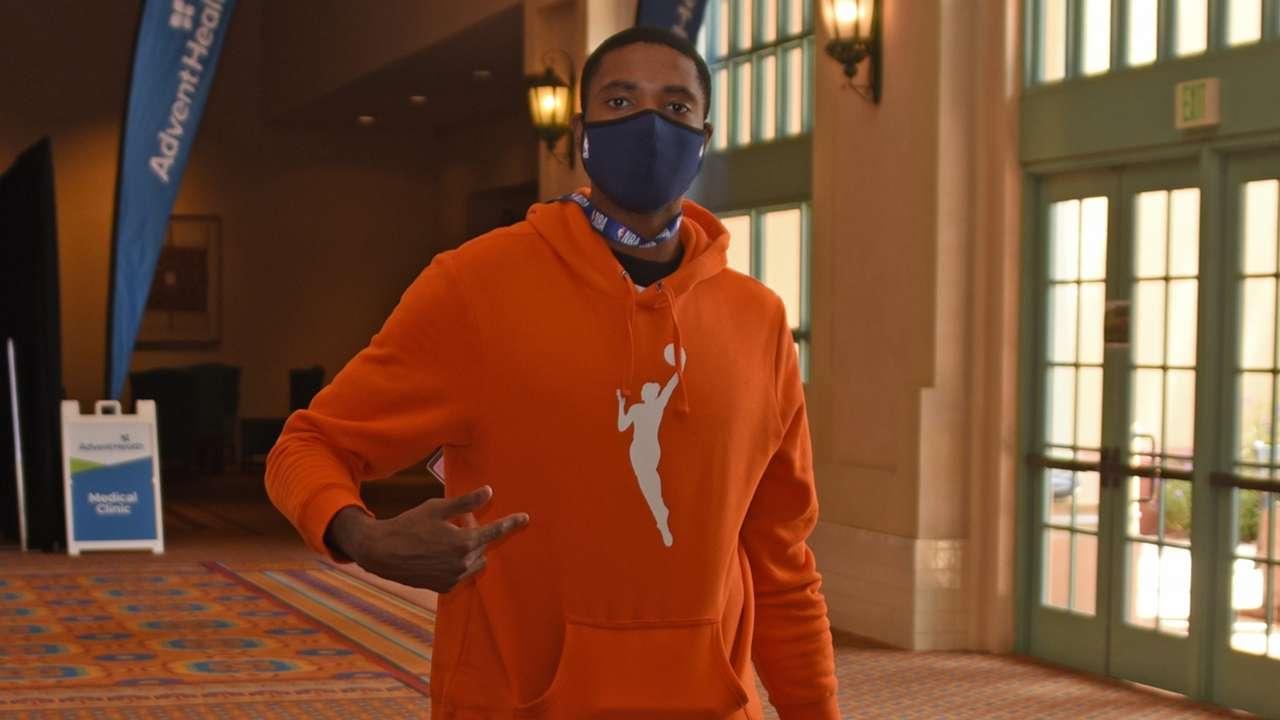 WNBA's orange hoodie
