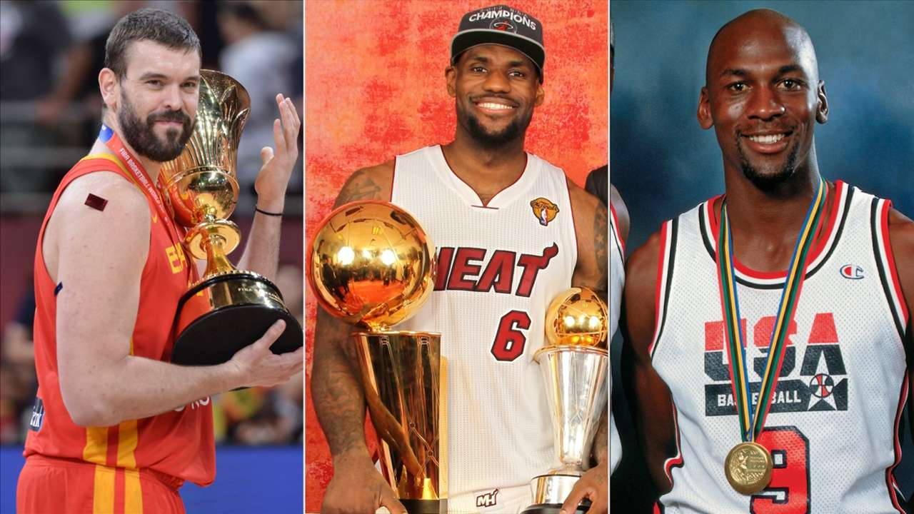 Marc Gasol, LeBron James and Michael Jordan are three of eight NBA players to win an NBA title and a gold medal in the same year