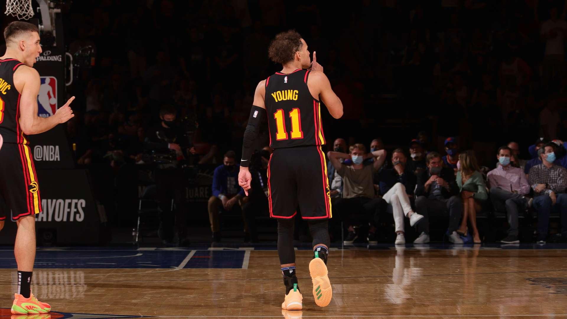 Trae Young y Atlanta Hawks silenciaron la fiesta de New York Knicks en el  Madison Square Garden   NBA.com Argentina   El sitio oficial de la NBA