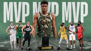 Giannis Antetokounmpo leads in the race for the MVP.