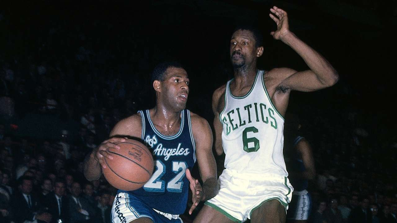 Elgin Baylor and Bill Russell