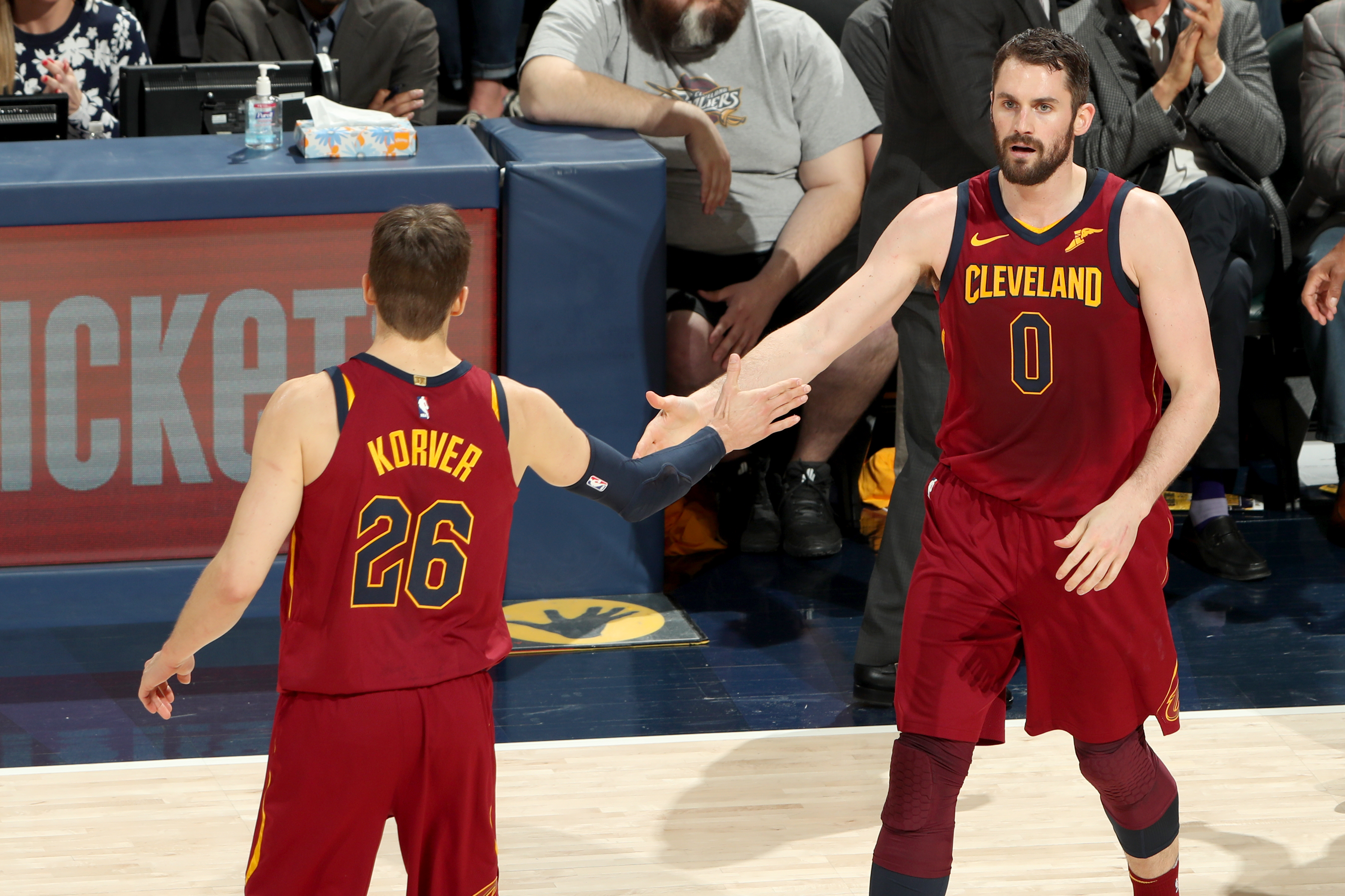Kevin Love and Kyle Korver