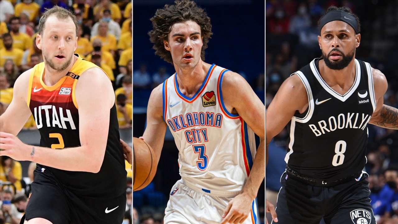 Joe Ingles (Utah Jazz), Josh Giddey (Oklahoma City Thunder), Patty Mills (Brooklyn Nets)
