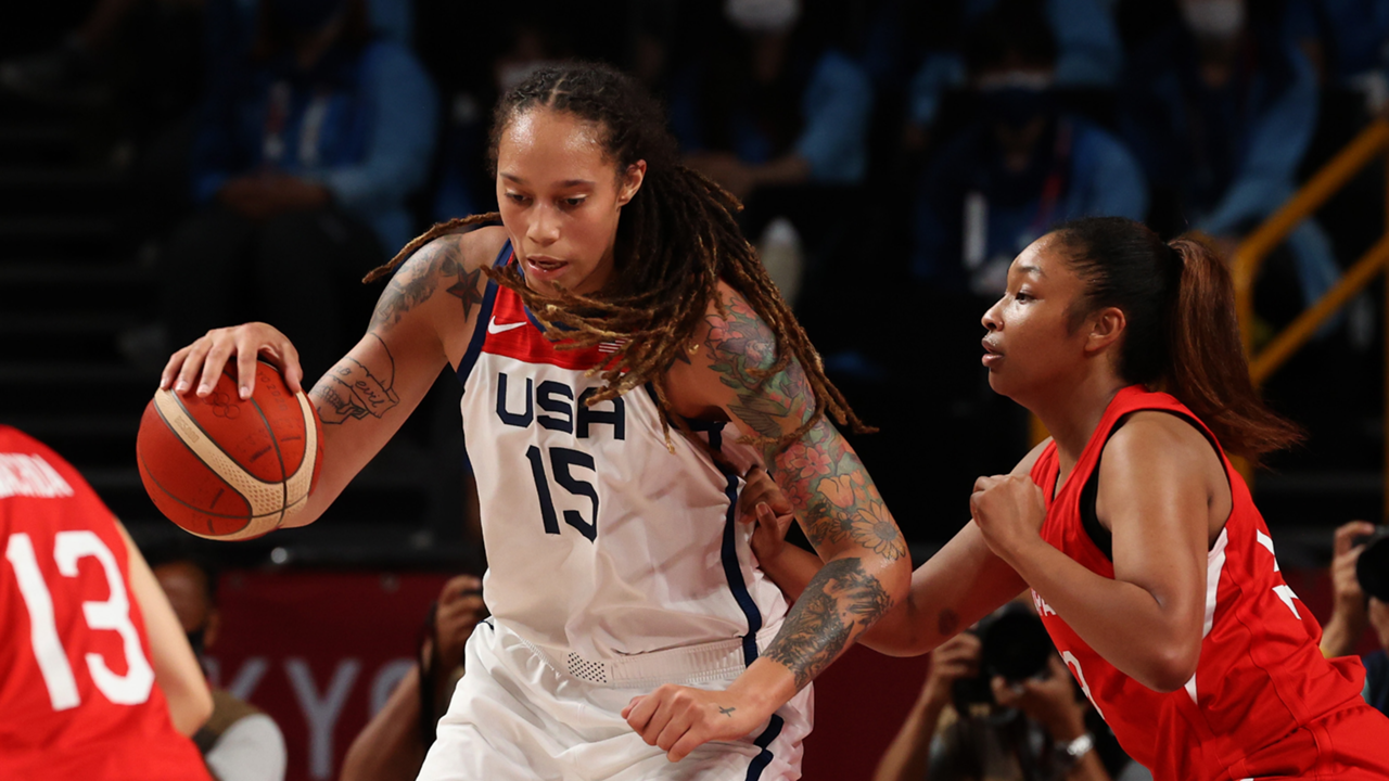 Brittney Griner (USA) Olympic gold medal game