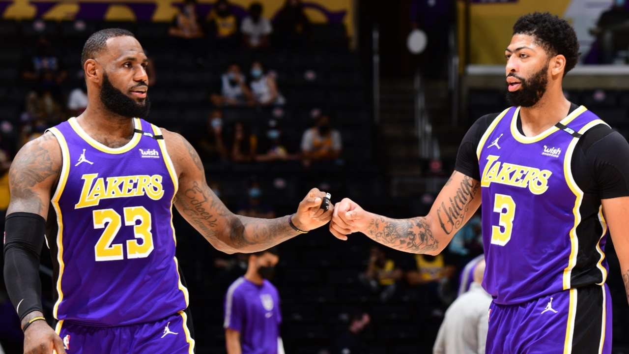 Lakers superstars LeBron James and Anthony Davis