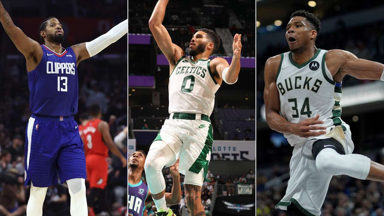 Paul George, Jayson Tatum and Giannis Antetokounmpo each had big nights in tonight's NBA action