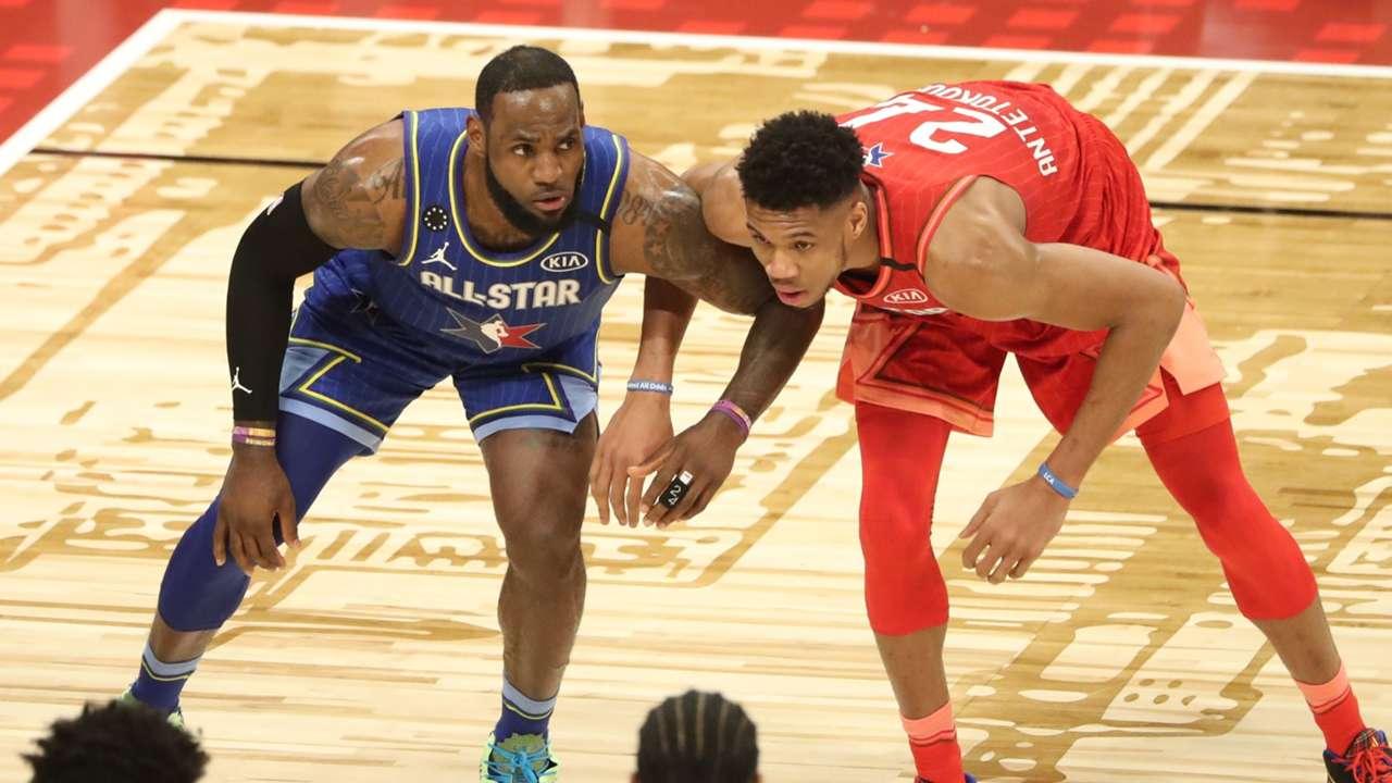 LeBron James and Giannis Antetokounmpo