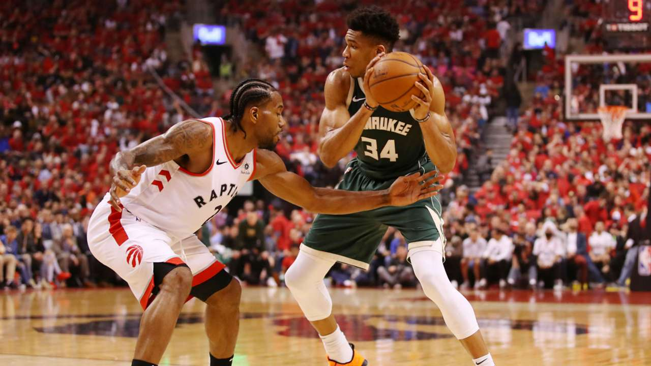 Kawhi Leonard guarded Giannis Antetokounmpo more than any other Raptors player in Game 3.