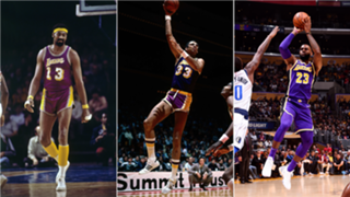 Where do these Lakers rank on the all-time scoring list?