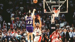 John Stockton vs. Houston Rockets in Game 6 in 1997 Conference Finals