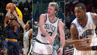 Kyrie Irving, Larry Bird, and Tracy McGrady