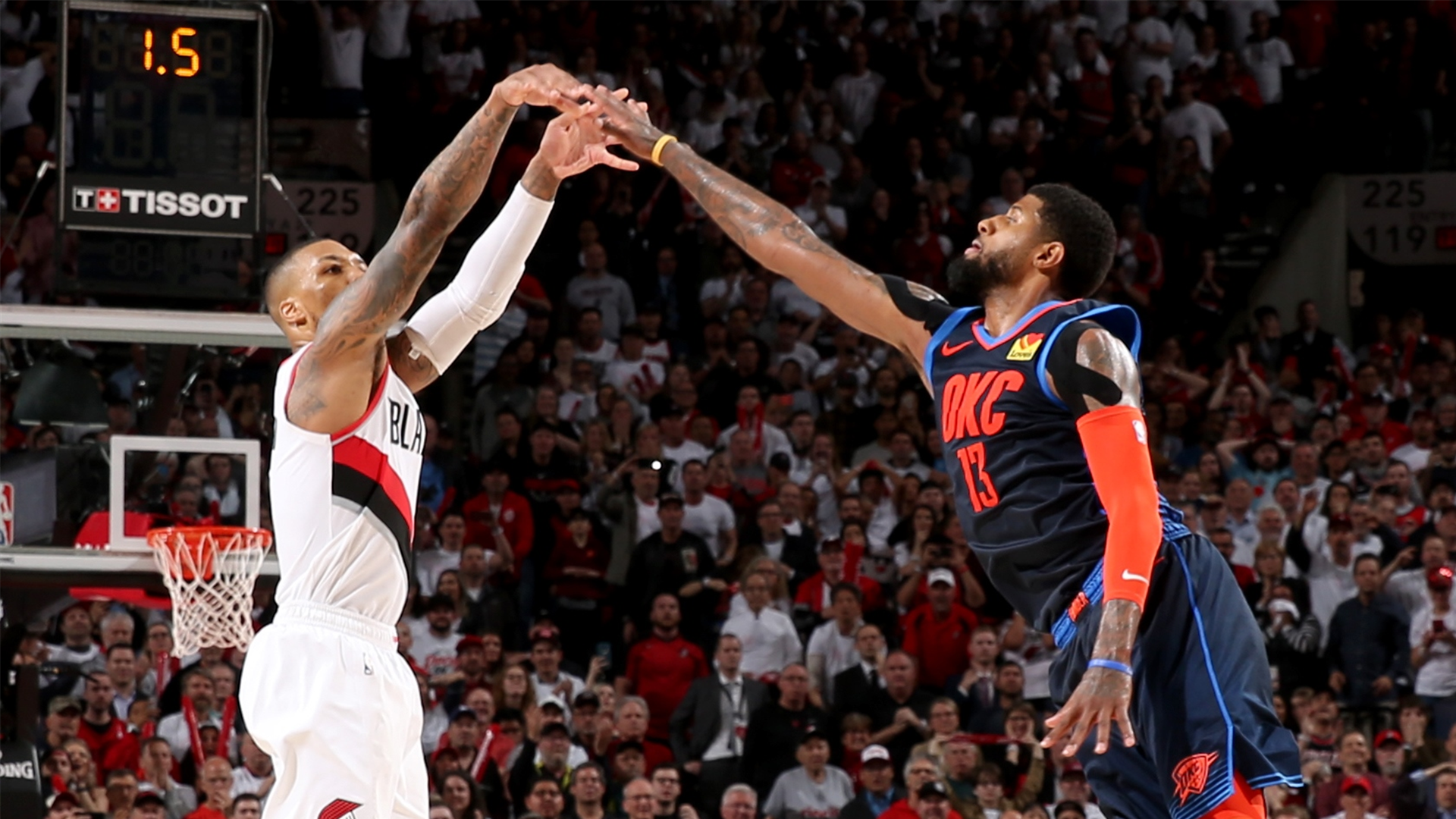 Nba Playoffs 2019 Paul George Says It Was His Night On Damian Lillard S 50 Point Game That Was Capped Off By A Game Winner Nba Com India The Official Site Of The Nba