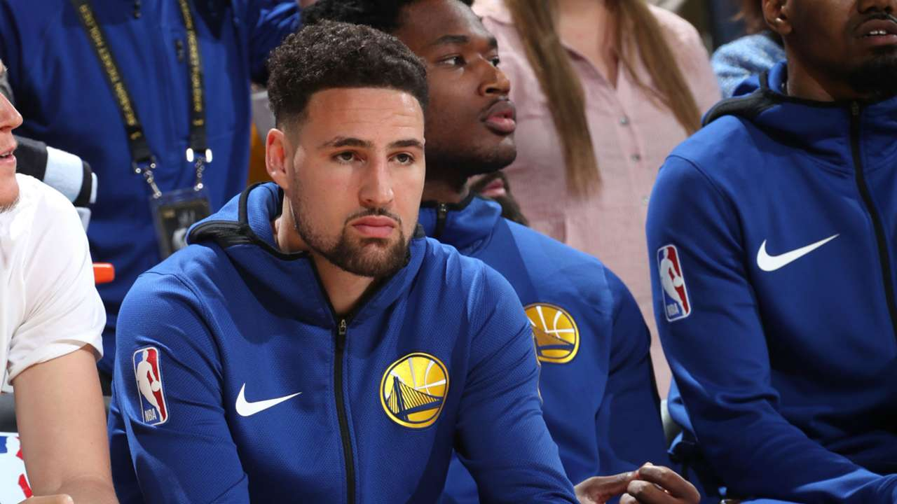 Klay Thompson did not play in Game 3, but is expected to be in the lineup for Game 4.